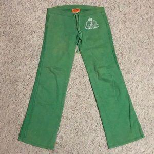 Green Juicy Couture Pajama Pants S